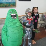 Slimer, the knight, Miss Kitty!